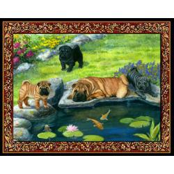 Shar Pei 3 Single Tapestry Placemat