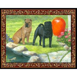 Shar Pei 4 Single Tapestry Placemat