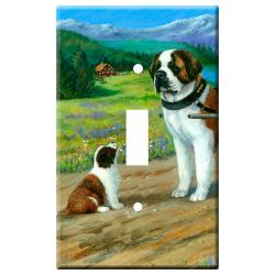 St Bernard Picture #3A Single Light Switch Plate