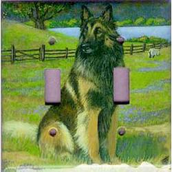 Belgian Tervuren 1A Double Light Switch Plate