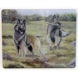 Belgian Tervuren 2 Tempered Glass Cutting Board