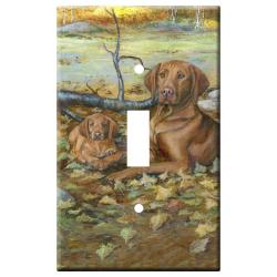 Vizsla Picture Single Light Switch Plate #2A