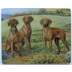 Vizsla 4 Tempered Glass Cutting Board