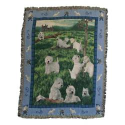 Westie 1 blanket throw