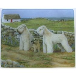 Wheaten Terrier 3 Tempered Glass Cutting Board
