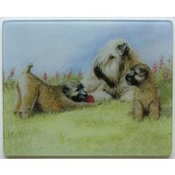 Wheaten Terrier 4 Tempered Glass Cutting Board